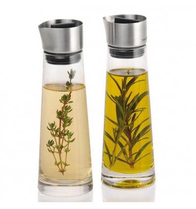 Blomus - Set pour huile et vinaigre - ALINJO - Verre et acier inoxydable