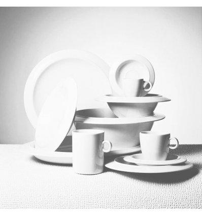Set of 6 bowls-plates - BAVERO - White Porcelain - Alessi