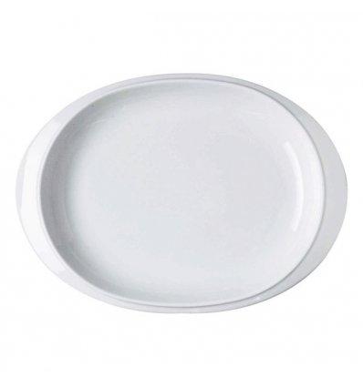 Oval dish - BAVERO - White Porcelain - Alessi