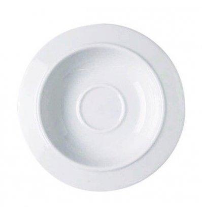 Alessi - Set de 6 soucoupes pour tasses à café - BAVERO - Porcelaine blanche
