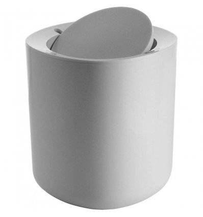 Bathroom trash - BIRILLO - Gray - Alessi