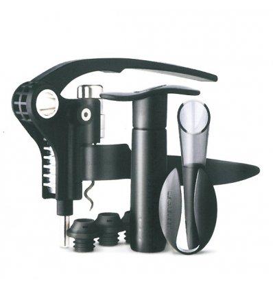 Screwpull - Coffret avec tire-bouchon, coupe-capsule, pompe à vin et aérateur - GS500