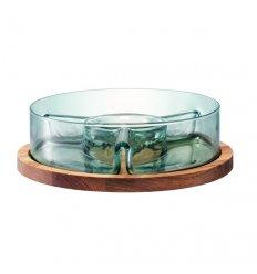 Dip dish & oak - FIRO - Diameter 28.5 cm