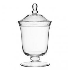 Bonbonnière en verre soufflé avec couvercle - SERVE - Hauteur 25cm Transparente