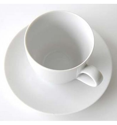 Alessi - Set de 6 soucoupes pour tasses à café-filtre - MAMI - Porcelaine blanche
