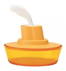 Food container with spatula - SHIP SHAPE
