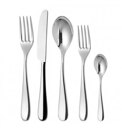 Set of 5 cutlery - NUOVO MILANO - Shiny stainless steel - Alessi