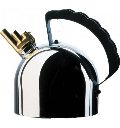Kettle - 9091 - model with stainless steel bottom - 2 liters  - Alessi