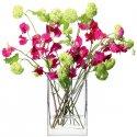 Vase rectangulaire soufflé à la bouche - FLOWER - Hauteur 22 cm Transparent