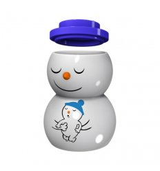 Christmas candle holder with lid - SNOWDADDY