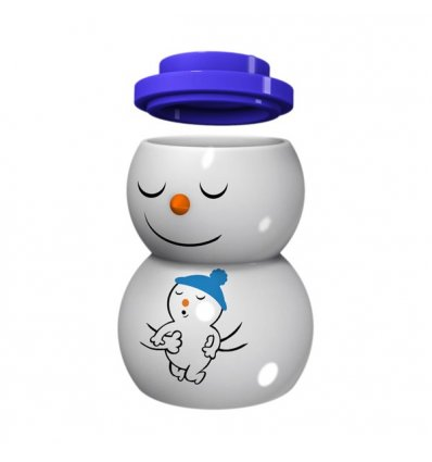 Christmas candle holder with lid - SNOWDADDY - A di Alessi