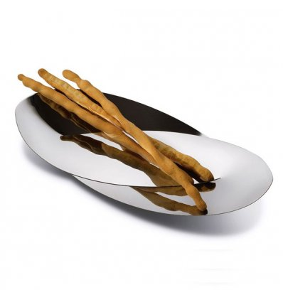 Bread and Breadstick Basket - OCTAVE - Bright stainless steel - Length 41 cm - Alessi