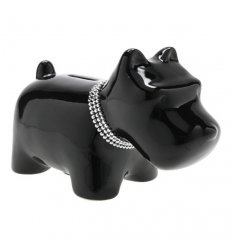 Piggy bank - STRUPPI - Porcelain - Length 18.5 cm