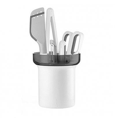 Set of 5 utensils with drainer bracket - MY KITCHEN - Guzzini