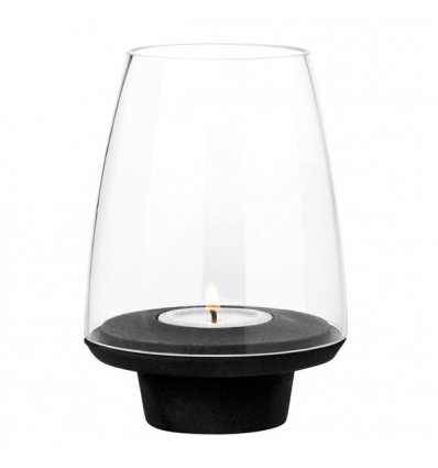 Tealight holder - FUEGO - glass and cast iron - Stelton
