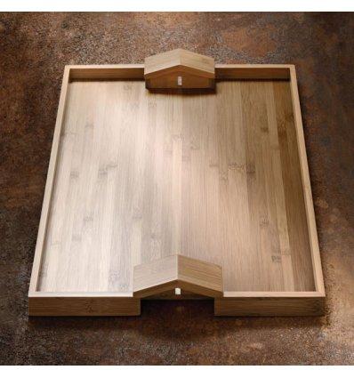 Bamboo tray - QUATTRO MURI DUE CASE - 46.6 cm x 36.6 cm - Alessi