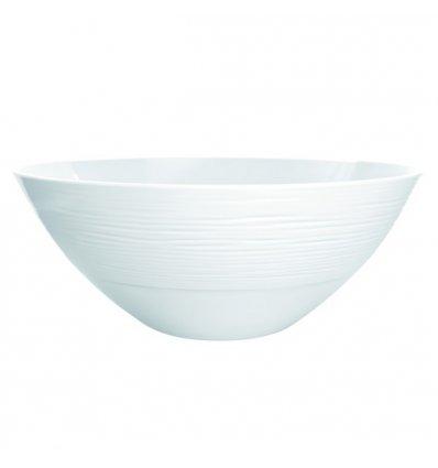 Zak ! Designs - Saladier sculpté - TECHS - Diamètre 30 cm - Blanc