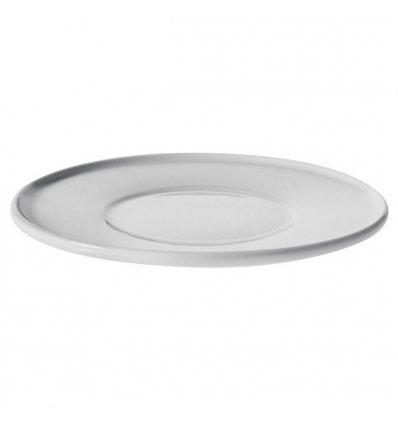 A di Alessi - Set de 4 soucoupes pour tasses à moka - PLATEBOWLCUP - Porcelaine