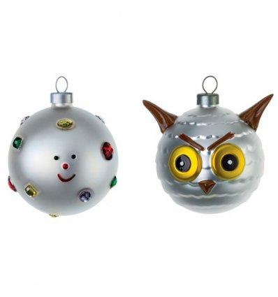 Set of 2 Christmas balls - FIOCCODINEVE E UFFOGUFFO - blown glass - Alessi