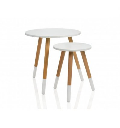 Set de 2 tables d'appoint ronde