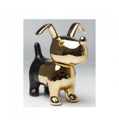 "Tirelire ""Dog gold-black"""