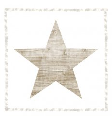 Serviette en papier décorative - Star Fashion taupe