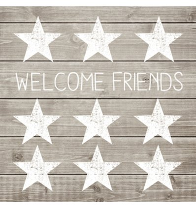 Serviette en papier décorative - Welcome Friends