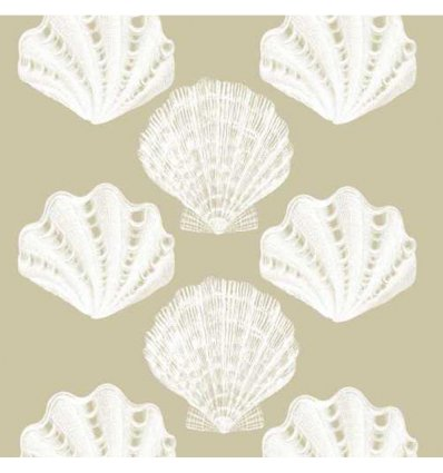 Serviette en papier décorative - Riviera Shells taupe