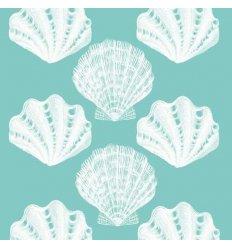 Serviette en papier décorative - Riviera Shells aqua