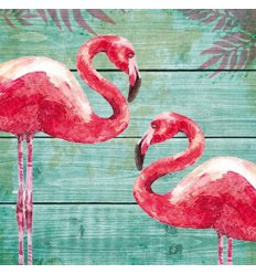 Serviette en papier décorative - Summer Flamingos