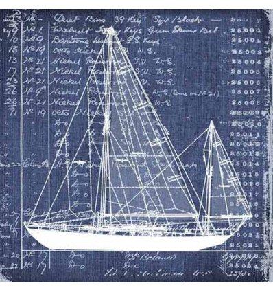 Serviette en papier décorative - Nautica Cutter