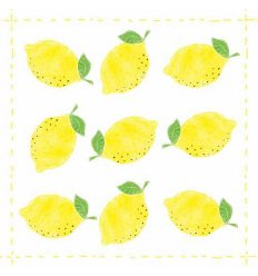 Serviette en papier décorative - fashion lemon