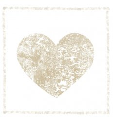Serviette en papier décorative - Single Heart