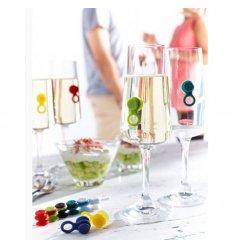 Marque-verres en silicone