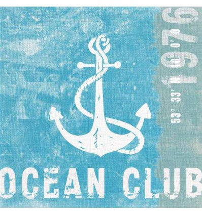 Serviette en papier décorative - Ocean Club