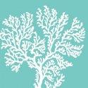 Serviette en papier décorative - Riviera Coral Aqua