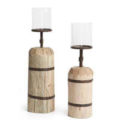 Set de 2 chandeliers bois - ASANA