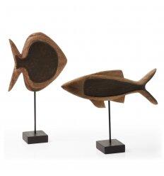 Set de 2 poissons bois - AHUD