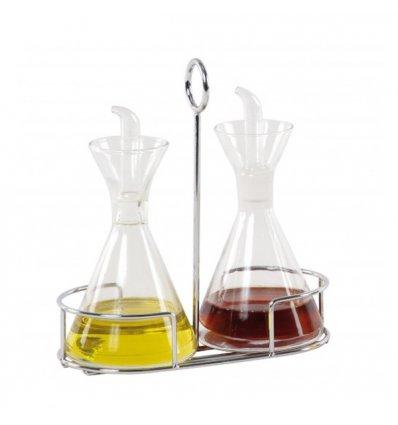 Set huile et vinaigre avec support