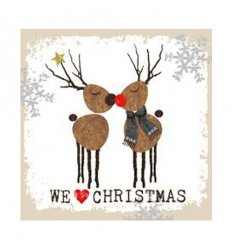 Serviette en papier décorative - We love Christmas