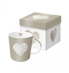 Mug - Fashion Heart Taupe