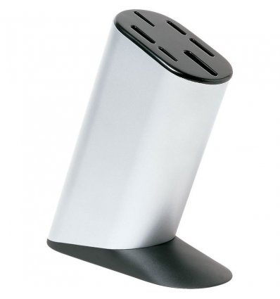 Kitchen knife block - MAMI - Aluminium - Alessi