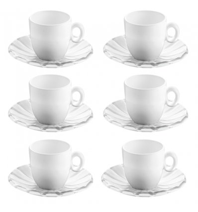 Set de 6 tasses à café - GRACE