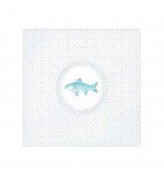 Serviette papier déco - Médaillon Fish Pearl