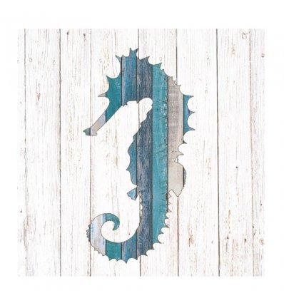 Serviette papier déco - Whitewash Seahorse