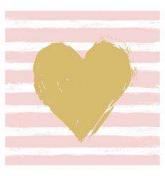 Serviette papier déco - Hert & Stripes rosé