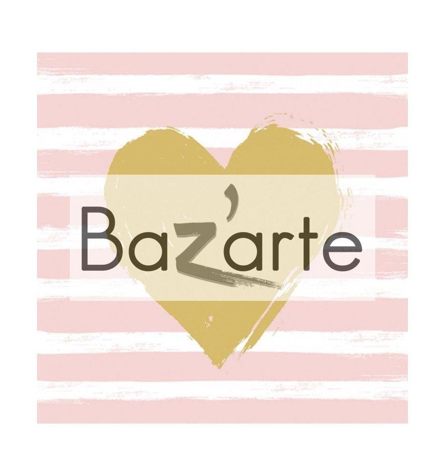 Serviette papier d co hert stripes ros bazarte - Deco serviette papier ...