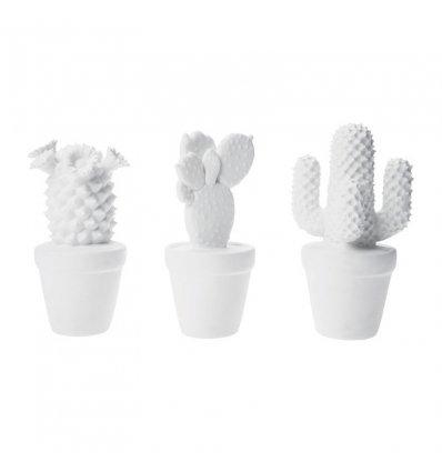 Déco Cactus Blanc assortis (par 3)