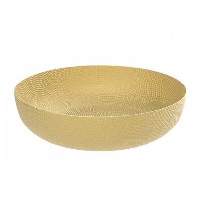 Corbeille ronde laiton doré